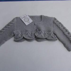 Chaqueta para bebé de lana y dralon